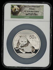 2015 - 5 oz S50Y Chinese Silver Panda NGC PF70 ULTRA CAMEO