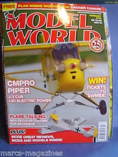 RCMW RC MODEL WORLD FEBRUARY 2009 DAGGER CANARD PLAN CMPRO PIPER  A6 INTRUDER