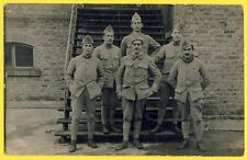 cpa Carte Photo Militaire SOLDATS du 101e Régiment Camp Caserne Uniforme