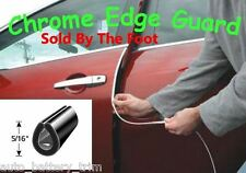 CHROME DOOR EDGE GUARD PROTECTOR TRIM MOLDING - SOLD BY THE FOOT - Price Per/Ft