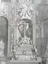 MAITRE AUTEL du COEUR N.D.DE PARIS GRAVURE XVIIIéme ORNEMENT  DECORATION