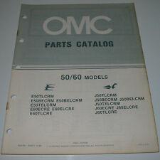 Ersatzteilkatalog Parts Catalog OMC 50 / 60 Models Boot Engine Bootsmotor 1984!