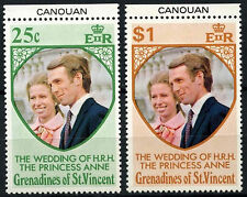 Grenadines St. Vincent 1973 SG#1-2 Royal Wedding MNH Set & Canouan Tabs #D36273