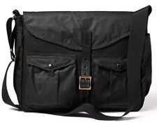FILSON Medium Game Bag Messenger/Briefcase NEW! Black/Blaze & Leather