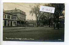 Ashland MA Mass RPPC real photo Front Street view, tiny people, post office