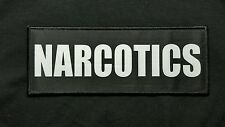 "Narcotics 3x8"" Hook Backed Plate Carrier Raid Patch Police SWAT Sheriff Black"