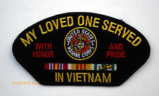 US MARINES MY LOVE ONE SERVED WITH HONOR & PRIDE IN VIETNAM PATCH EGA EAGLE WOW