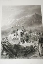 NAPOLEON  GRAVURE  ESPAGNE COMBAT DE  LOMO SIERRA 1838 VERSAILLES R1143 IN FOLIO