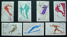 1961 ROMANIA: WINTER SPORTS: SET 0F 7 USED STAMPS: SOME HINGED
