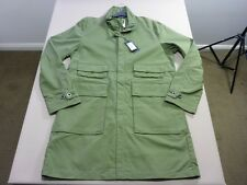 066 MENS NWT G-STAR RAW CARBER TRENCH SAGE ZIP UP L/S LONG JACKET XL $260.