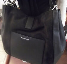 Michael Kors Quincy Large shoulder tote bag Black Pebbled Leather and suede