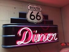 Route 66 Diner Neon Marquee Sign