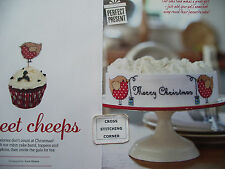 SWEET CHEEPS ADORABLE RED ROBIN CHRISTMAS CAKE BAND,TOPPERS CROSS STITCH CHART