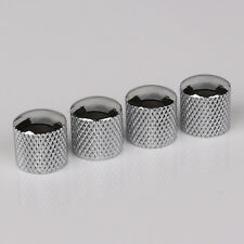 4pcs Chrome Cylinder Guitar/Bass Tone Tunning Knobs Dome Knob
