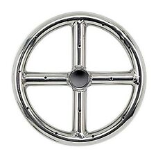 """6"""" Stainless Steel American Fireglass Gas Fire Pit Burner Ring LP or NG"""