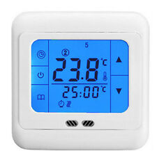 LCD Touch Screen Programmable underfloor heating Room Thermostat blue backlight