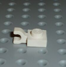 LEGO - PLATE, Modified 1 x 1 with Clip Horizontal, WHITE x 10 (6019) PM9