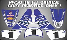 pw50 chinese copy decals graphics yamaha pw 50 personal peewee laminated BLUE