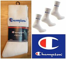 3 X CHAMPION SPORTS CREW SOCKS 3 PAIR PACK TRAINER COTTON UK 5 / 6 / 7 / 8 39-42