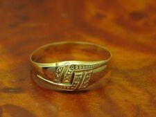 14kt 585 GOLD RING MIT DIAMANT BESATZ / DIAMANTRING / BRILLANTRING