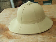 BRITISH ARMY WOLSELEY STYLE SAND TROPICAL JUNGLE SAFARI SUN PITH SOLA HAT HELMET