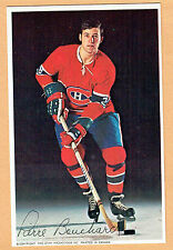 1969-71 Canadiens (Pro Star Promotions) Team Issued Postcard, Bouchard, Blue Ice