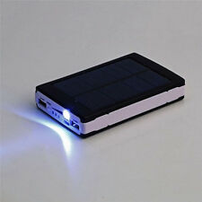 100000mah Waterproof solar charger Universal power bank dual usb battery black
