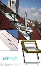 Skylight Kunststoff PREMIUM Dachfenster 78x98 + Eindeck. Hoch-Schwingfenster 7/9