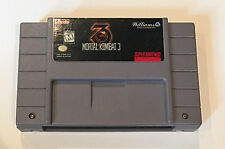 Mortal Kombat 3 - 1995 Super Nintendo Cartridge SNES III three