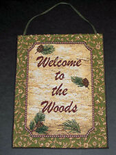 Deer Creek ~ Welcome to the Woods Tapestry Bannerette Wall Hanging