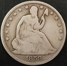 1859 O Seated Liberty Half Dollar! Plenty of details on the obverse and reverse!