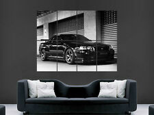 "NISSAN GTR r34 POSTER Nero Skyline Fast Cars ""Speed Muro Stampa"