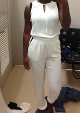 Cute Dressy Cream and Black Jumpsuit Sz X-Small