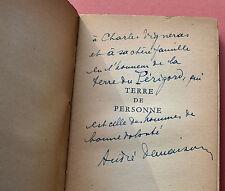 ANDRE DEMAISON TERRE DE PERSONNE 1949 Rare DÉDICACE
