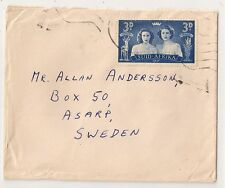 COVER SUID AFRIKA TO SWEDEN. 1947. L336