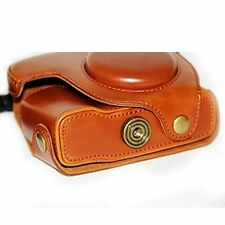 Brown PU Leather Camera Case Bag for Canon G16/G15 Digital Camera