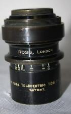 Rare Vintage Ross London 9in f6.8 Telecentric Barrel Lens #75120 # PL-1308