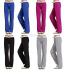 New Sports Yoga Home Loose Sweat Pants Women Elastic Waist Cotton Trousers D59