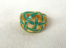 BANANA REPUBLIC JEWELRY Turquoise Enamel Woven Gold Plated Right Hand Ring $34