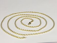 "10kt SOLID Gold Diamond Cut ROPE Pendant Chain/Necklace 16"" 2mm 3 grams 014R"