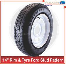 "RIM and TYRE 14 INCH SUNRASIA FORD STUD PATTERN 14""  LIGHT TRUCK 185 R 14 C"
