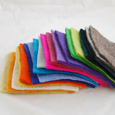 "Handmade 100% Wool Felt Fabric - 5mm Thick - 20 Assorted 6"" Square Sheets Bundle"