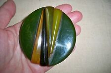 """Vintage Bakelite Belt Buckle Art Deco 5 Great Colors  3"""" Tall  Small Chips"""