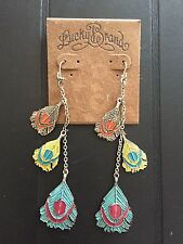 NWT LUCKY BRAND TIERED CHANDELIER EARRINGS SILVER-TONED