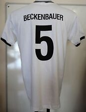 GERMANY RETRO BECKENBAUER 5 FOOTBALL T-SHIRT ADULTS SIZE LARGE BRAND NEW