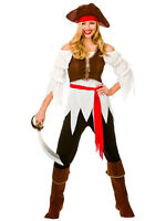 Adult Pirate Shipmate Lady Fancy Dress Costume Sexy Caribbean Ladies Outfit