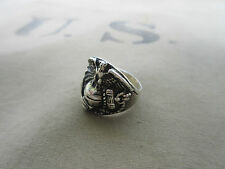 US Army Marine Corps USMC Eagle Globe Insignia Ring NAM PX Sterling Vietnam G 62