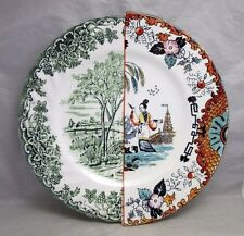 "2012 Hybrid Seletti CTRLZAK 10 1/2"" Dinner Plate. Asian transferware pattern"