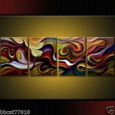 4 pieces Large Modern Abstract Art Oil Painting Wall Deco canvas No Frame