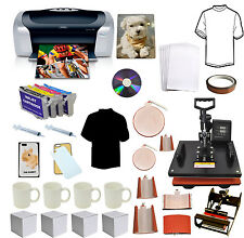 8in1 Pro Sublimation Heat Press,Epson Printer C88,Refil,Heat Transfer Tshirt,Mug